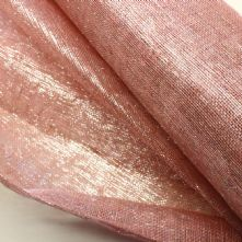 Dusky Pink Silver Thread Sinamay